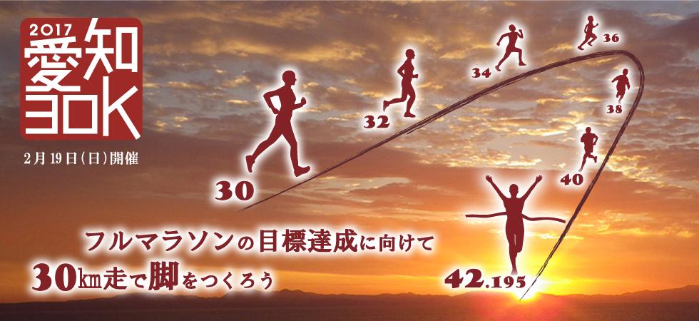 2017年2月19日(日)に開催される、愛知30Kでフルマラソンの目標達成に向けて脚をつくろう